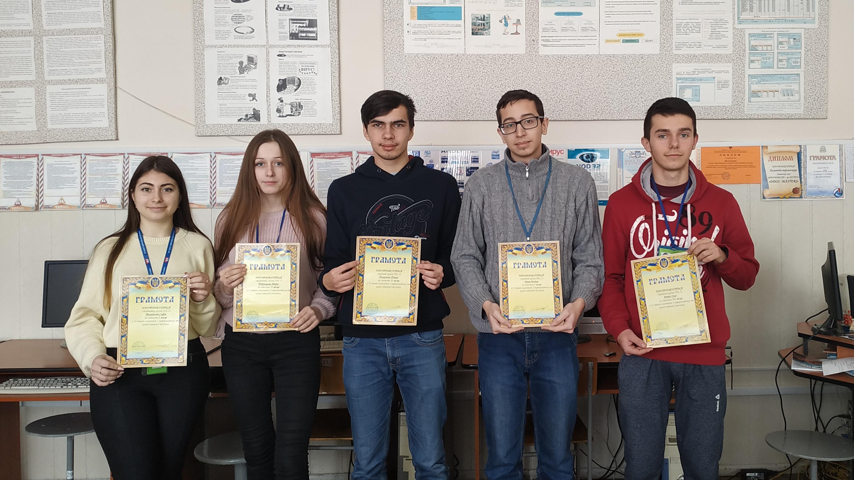 Вітаємо переможців II етапу олімпіади з інформатики та комп'ютерної техніки